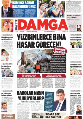 Gazete Damga - 21.06.2020 Sayfaları