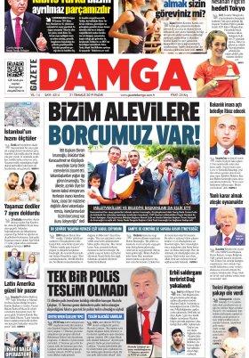 Gazete Damga - 21.07.2019 Sayfaları