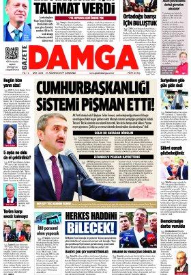 Gazete Damga - 21.08.2019 Sayfaları