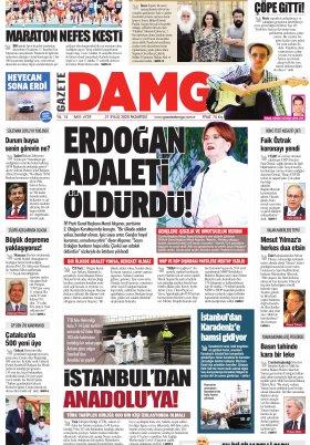 Gazete Damga - 21.09.2020 Sayfaları
