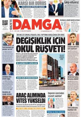 Gazete Damga - 21.10.2019 Sayfaları