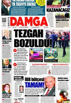 Gazete Damga - 21.11.2018 Sayfaları