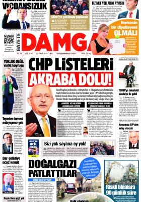 Gazete Damga - 22.02.2019 Sayfaları