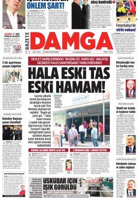 Gazete Damga - 22.03.2020 Sayfaları