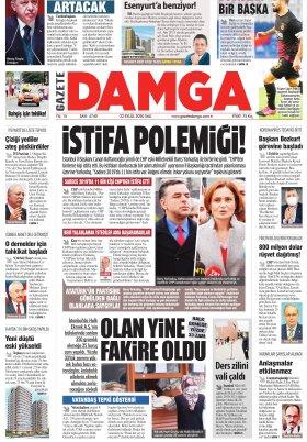Gazete Damga - 22.09.2020 Sayfaları