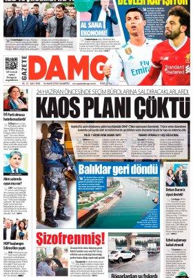 Gazete Damga - 26.05.2018 Manşeti