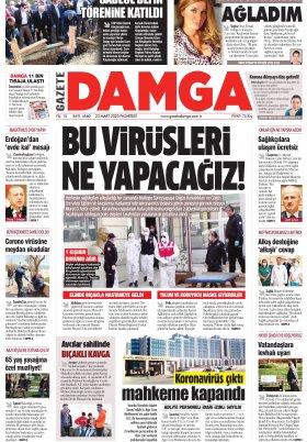 Gazete Damga - 23.03.2020 Sayfaları