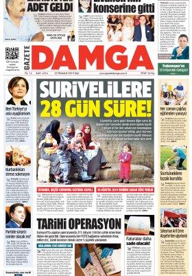 Gazete Damga - 23.07.2019 Sayfaları