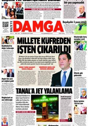 Gazete Damga - 23.08.2019 Sayfaları