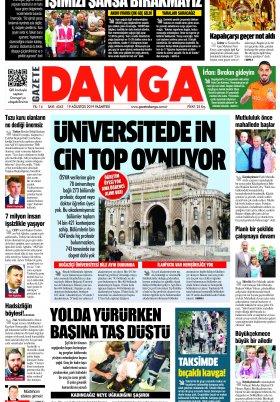 Gazete Damga - 19.08.2019 Sayfaları