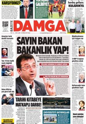Gazete Damga - 22.10.2019 Sayfaları