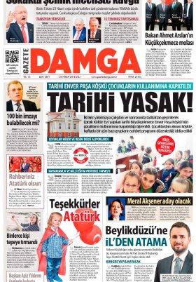 Gazete Damga - 24.04.2018 Manşeti