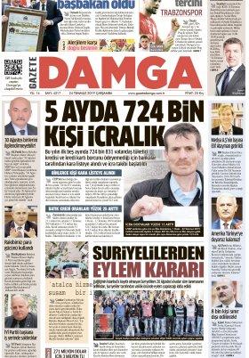Gazete Damga - 24.07.2019 Sayfaları