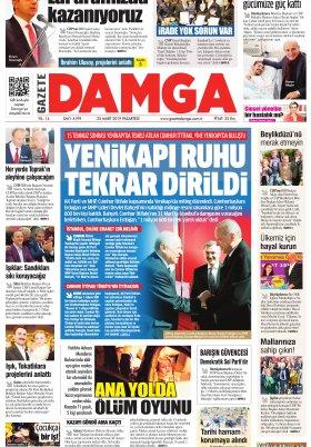 Gazete Damga - 25.03.2019 Sayfaları