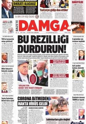 Gazete Damga - 25.03.2020 Sayfaları