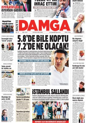 Gazete Damga - 25.09.2020 Sayfaları