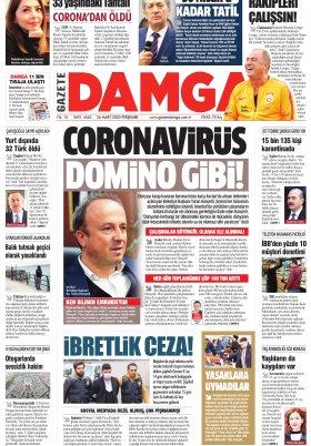 Gazete Damga - 26.03.2020 Sayfaları