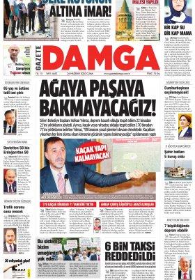 Gazete Damga - 26.06.2020 Sayfaları