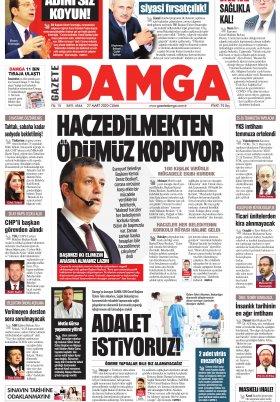 Gazete Damga - 27.03.2020 Sayfaları