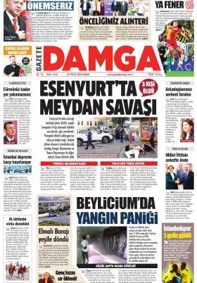 Gazete Damga - 27.09.2020 Sayfaları