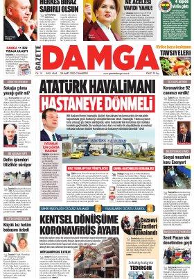 Gazete Damga - 28.03.2020 Sayfaları