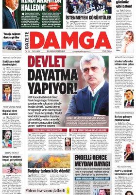 Gazete Damga - 28.06.2020 Sayfaları