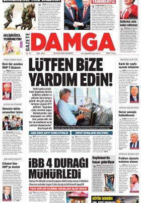 Gazete Damga - 28.09.2020 Sayfaları