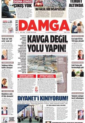 Gazete Damga - 29.03.2020 Sayfaları