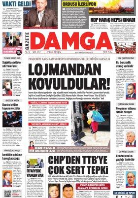 Gazete Damga - 29.09.2020 Sayfaları
