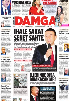 Gazete Damga - 29.12.2020 Sayfaları