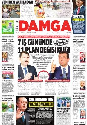 Gazete Damga - 30.06.2020 Sayfaları