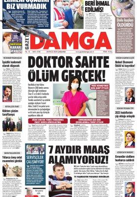 Gazete Damga - 30.09.2020 Sayfaları