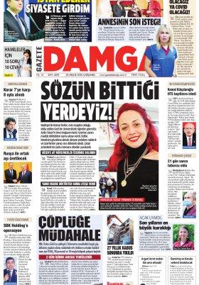 Gazete Damga - 30.12.2020 Sayfaları