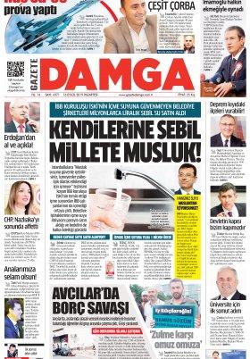 Gazete Damga - 16.09.2019 Sayfaları