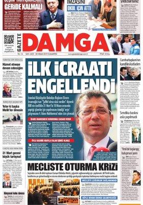 Gazete Damga - 20.04.2019 Sayfaları