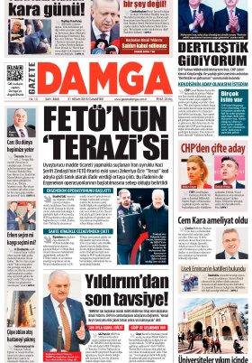 Gazete Damga - 21.04.2018 Manşeti