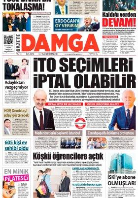 Gazete Damga - 26.04.2018 Manşeti