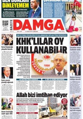 Gazete Damga - 24.04.2019 Sayfaları