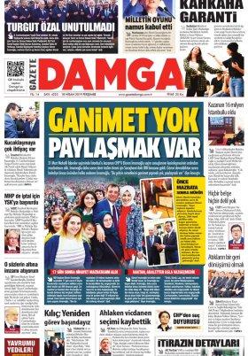 Gazete Damga - 18.04.2019 Sayfaları