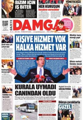Gazete Damga - 19.04.2019 Sayfaları
