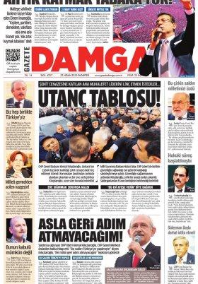 Gazete Damga - 22.04.2019 Sayfaları