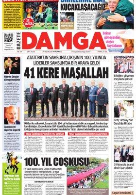 Gazete Damga - 20.05.2019 Sayfaları