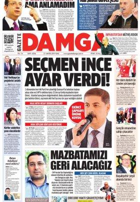 Gazete Damga - 21.05.2019 Sayfaları