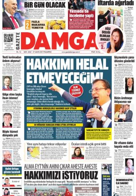Gazete Damga - 27.05.2019 Sayfaları