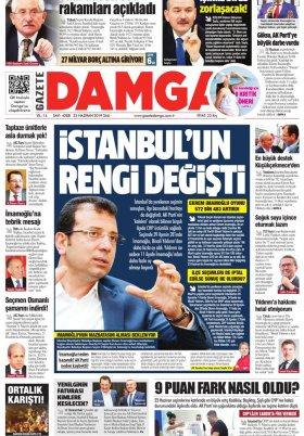 Gazete Damga - 25.06.2019 Sayfaları