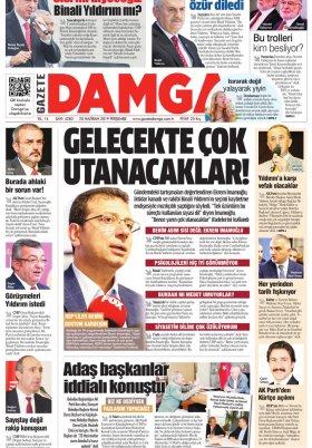 Gazete Damga - 20.06.2019 Sayfaları
