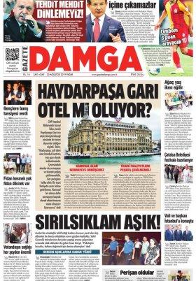 Gazete Damga - 25.08.2019 Sayfaları