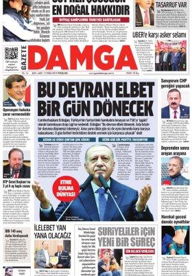 Gazete Damga - 17.10.2019 Sayfaları