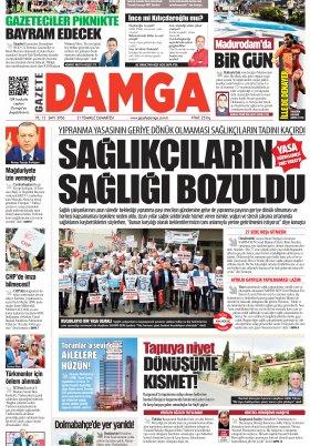 Gazete Damga - 21.07.2018 Manşeti
