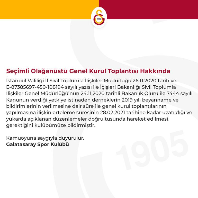 Galatasaray'dan yapılan açıklama